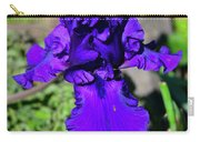 Purple Bearded Iris By Chris White Carry-all Pouch
