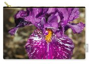 Purple Bearded Iris Carry-all Pouch