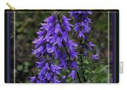 Purple Bell Flowers, Framed Carry-all Pouch