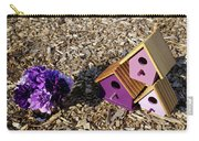 Purple Birdhouses 2 Carry-all Pouch