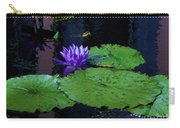 Purple Blue  Lily Carry-all Pouch