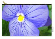 Purple Blue Pansey Carry-all Pouch