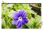 Purple Browallia Flower Carry-all Pouch