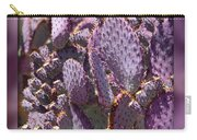 Purple Cactus Canvas Carry-all Pouch