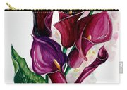 Purple Callas Carry-all Pouch