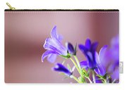 Purple Campanula Blooms Carry-all Pouch