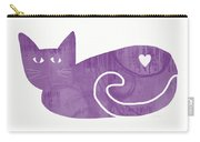 Purple Cat- Art By Linda Woods Carry-all Pouch