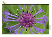 Purple Centaurea Montana Flower Carry-all Pouch