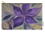 Purple Clematis Abstract Carry-all Pouch
