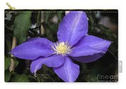 Purple Clematis Carry-all Pouch