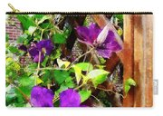 Purple Clematis On Trellis Carry-all Pouch