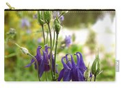 Purple Columbines Carry-all Pouch