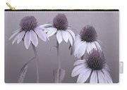 Purple Coneflowers And Dragonfly Carry-all Pouch