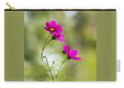 Purple Cosmos Flowers Square Carry-all Pouch