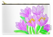 Purple Crocuses, Painting Carry-all Pouch