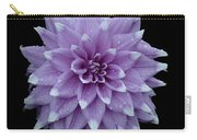 Purple Dahlia Cutout Carry-all Pouch