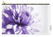 Purple Dahlia Floral Carry-all Pouch
