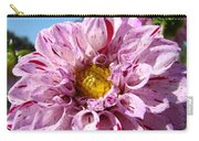 Purple Dahlia Flowers Pink Floral Art Prints Canvas Garden Baslee Troutman Carry-all Pouch