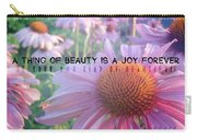 Purple Daisies Quote Carry-all Pouch