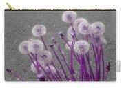 Purple Dandelions Carry-all Pouch