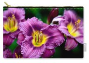 Purple Day Lillies Carry-all Pouch
