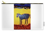 Purple Desert Donkey Carry-all Pouch