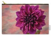 Purple Dhalia Carry-all Pouch