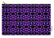 Purple Dots Pattern On Black Carry-all Pouch