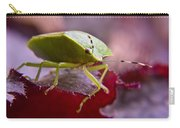 Purple Eyed Green Stink Bug Carry-all Pouch