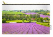 Purple Fields Of Love Carry-all Pouch