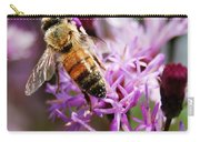 Purple Flower Bee Carry-all Pouch