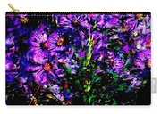 Purple Flower Still Life Carry-all Pouch