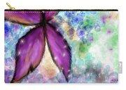 Purple Flower Watercolor Doodle Carry-all Pouch