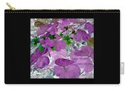 Purple Flower Wishes Carry-all Pouch