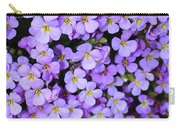 Purple Flowers - Rockcress Carry-all Pouch
