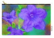 Purple Flowers 102310 Carry-all Pouch