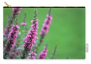 Purple Flowers In A Field Carry-all Pouch