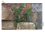 Purple Flowers In Ruins Carry-all Pouch