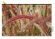 Purple Fountain Grass Abstract By H H Photography Of Florida Carry-all Pouch