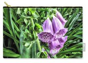 Purple Foxglove Carry-all Pouch