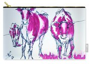 Purple Friesian Holstein Cows Drawing Carry-all Pouch