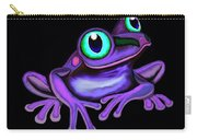 Purple Frog  Carry-all Pouch