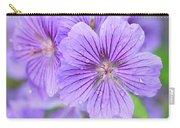 Purple Geranium Carry-all Pouch
