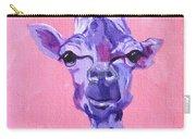 Purple Giraffe Carry-all Pouch