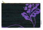 Purple Glamour On Black Weave Carry-all Pouch by Writermore Arts