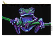 Purple Green Ghost Frog Carry-all Pouch