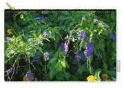 Purple Hanging Flowers Carry-all Pouch