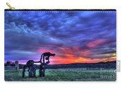Purple Haze Sunrise The Iron Horse Carry-all Pouch
