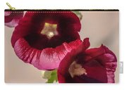 Purple Hollyhock Duo Carry-all Pouch