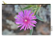Purple Ice Flower Close Up Carry-all Pouch